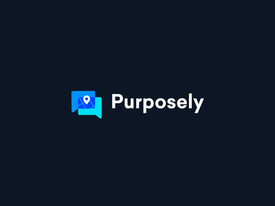 Purposely Logo Animation design blue application shapes branding animation after effects 2d branding logo animation logo motion design animation