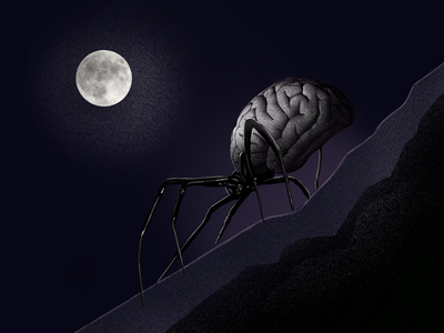 The minded spider full moon walk