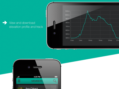 Mountain Tracks iphone mobile design ux design ui