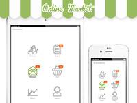 Onlinemarket detailed screens