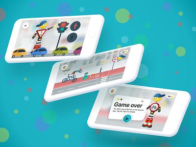 Traffic Code Learning - UI (2/2) learning platform children app traffic code learning learning app game app illustration ux ui user experience