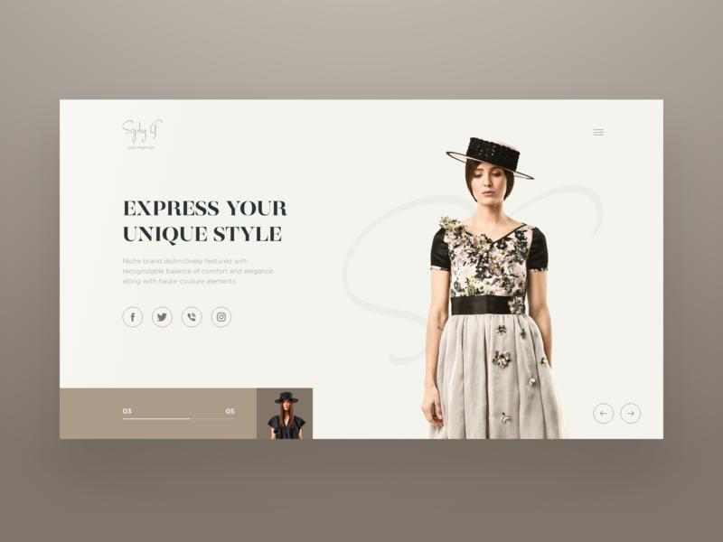 SG Clothing Brand web design typography ui