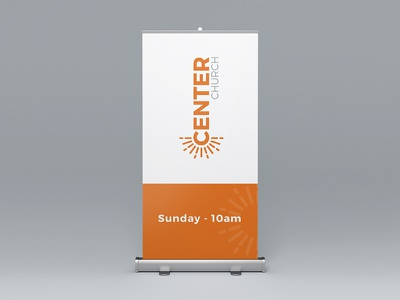 Center Church Pull-Up Banner design branding banner print