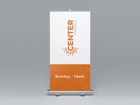 Center Church Pull-Up Banner