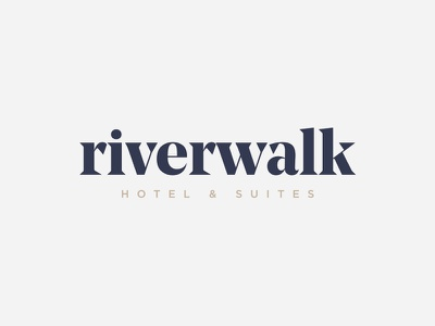 Riverwalk Hotel & Suites Branding color suites hotel logo branding