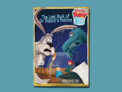 The Adventures of Tubby&Stretch adventures magical potion digital art illustrated book book cover illustration children book