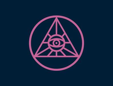 ILLUMINATI eye illuminati minimal illustration logo branding vector