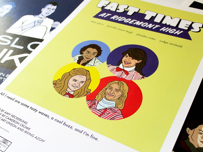 Fast Times at Ridgemont High Poster poster design poster illustration retro adobe illustrator vector