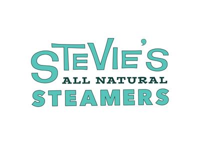 Stevie's All Natural Steamers menu menu design branding retro adobe illustrator vector logo