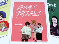 Female Trouble Poster divine john waters female trouble lettering typography design illustration minimal retro adobe illustrator vector