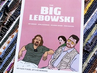 The Big Lebowski jeff bridges poster design illustration vector adobe illustrator the big lebowski