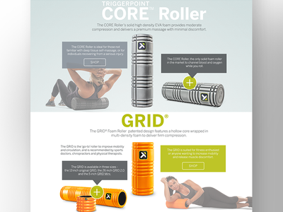 Grid Product Story Page landing page ux ecommerce