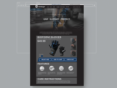 Harbinger Fitness Store Page
