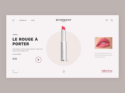 Lipstick Online Store website animation store online lipstick ui ux design website animation graphics motion after effects