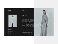 Brand website homepage