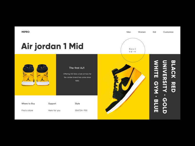 Shoes online store homepage interface branding store homepage web online website ux ui design
