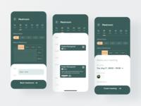 Book Meetroom meeting booking meetroom sketch app online graphics animation interface ux ui design