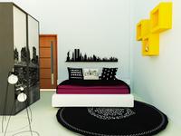 Teenage Masculine themed Bedroom Design
