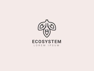 eco system logo design template