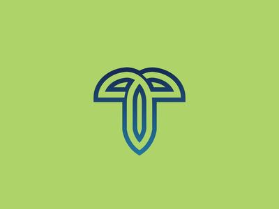 letter t logo concept