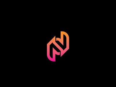 n letter logo concept