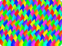 Tiled drops retina burn