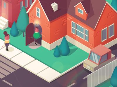 Traffic awareness character illustration home isometric design isometric traffic character art texture branding vector explainer designer character 2d illustration art