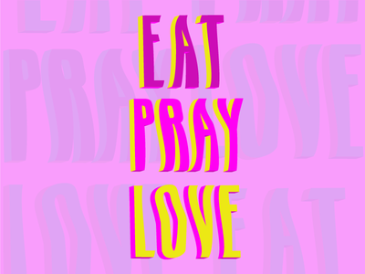 Eat Pray Love font collection font design character fun liquid font words study typography love pray eat
