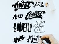 AWOL Logo Sketches