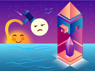 Isometric illustration emoji illustration isometric