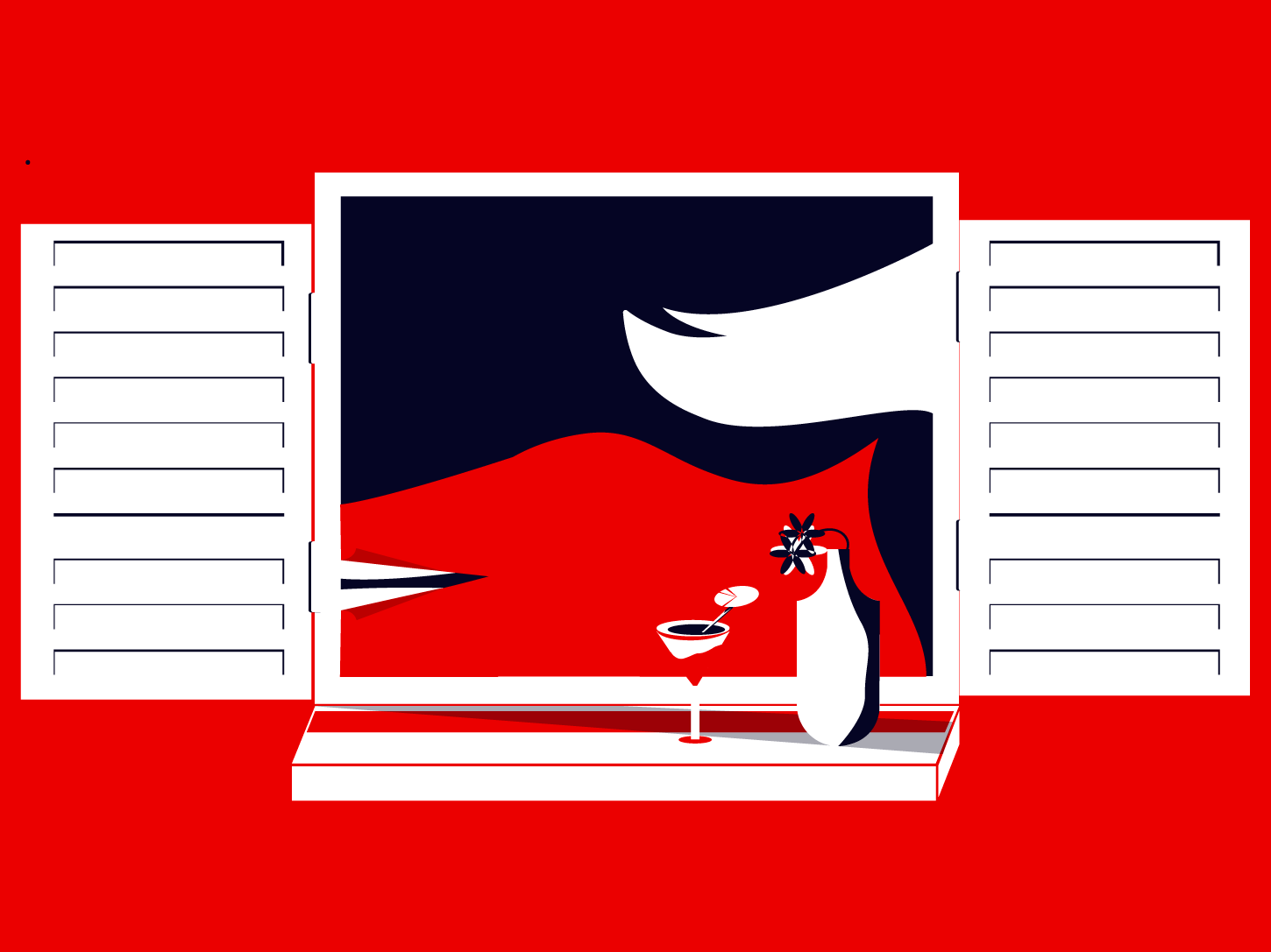 Just Women red and blue illustrator design women negative space graphic illustration