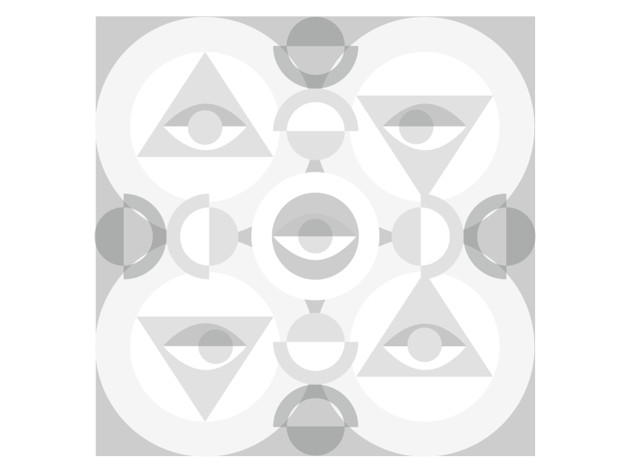 Abstract Geometry eye colors black and white design graphic illustration