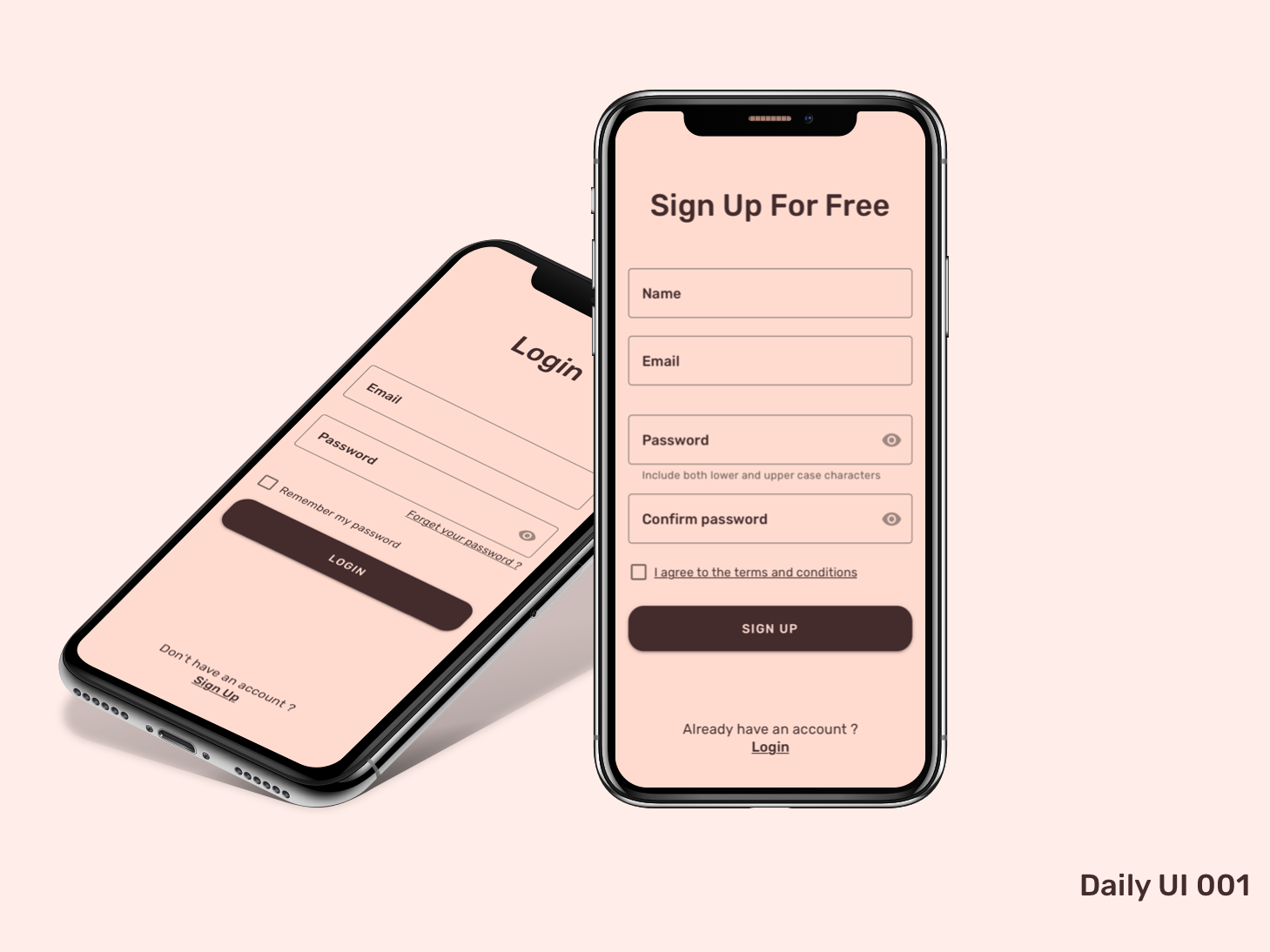 Daily UI challenge 001 material design login signup user interface uidesign ux ui daily ui
