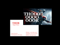 Thor business card
