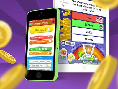 Lumen Games: Stake Your Stash quiz trivia design game ui