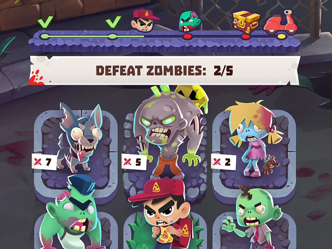 Lumen Games: Zombies ate my Pizza pizza zombies design game ui
