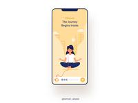 YoGGA musicapp headphones illustraion soft ui  ux music self quantum art sport meditation silent yoga app ui