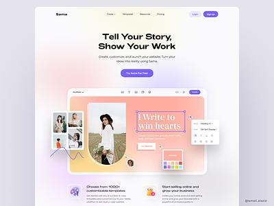 Sama gradient webdesign design layout ui uidesign