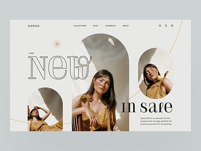 Sassa women photography ecommerce app design fashion layout uidesign ui