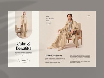 Nicho type typography fashion classic webdesign minimal ui layout ux uidesign