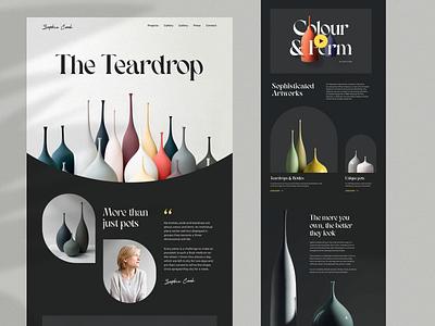 Sophie Cook black portfolio artist art design uidesign minimal ui landing page landing interface typography creative layout website simple