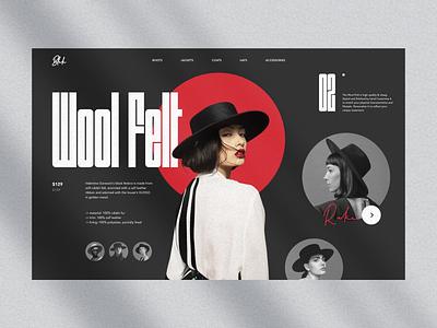 Blak typography type fresh blaack hat women girl fashion e commerce ecommerce store uidesign layout simple minimal