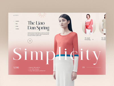 Less store ecommerce e commerce style girl fashion clean design layout uidesign minimal ui simple