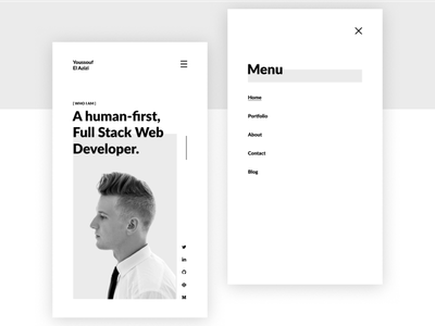 Developer Portfolio App minimal clean simple app porfolio developer