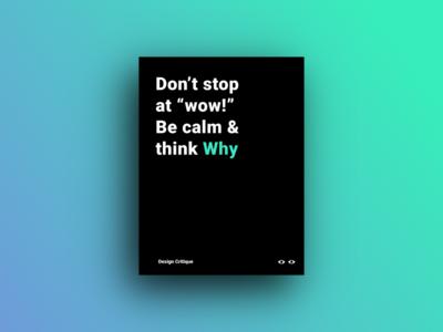 Design Critique Poster minimal poster critique design