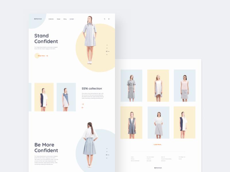 Berayah© white design web minimal clear clean