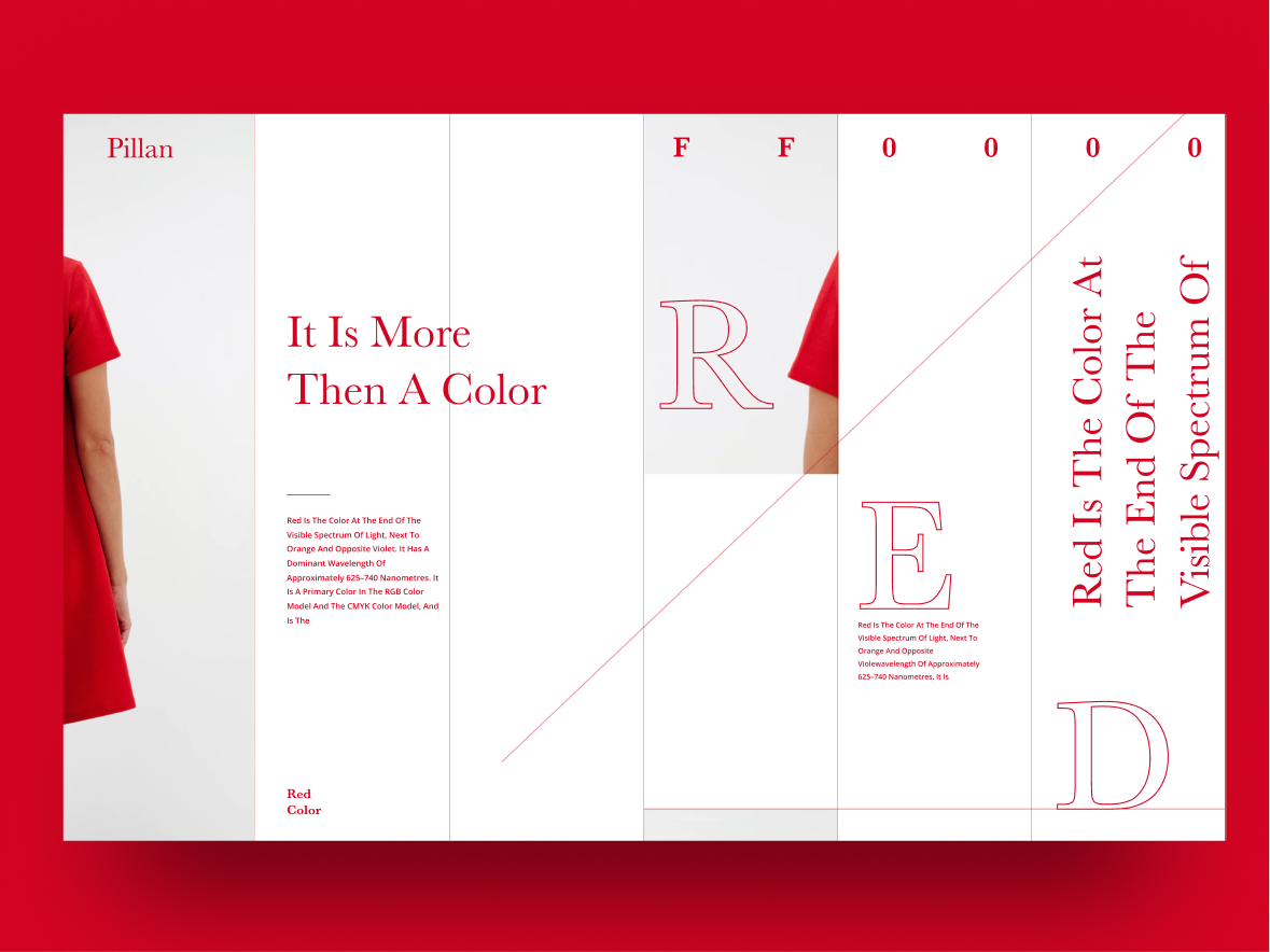 Red red uidesign typography abstract minimal simple