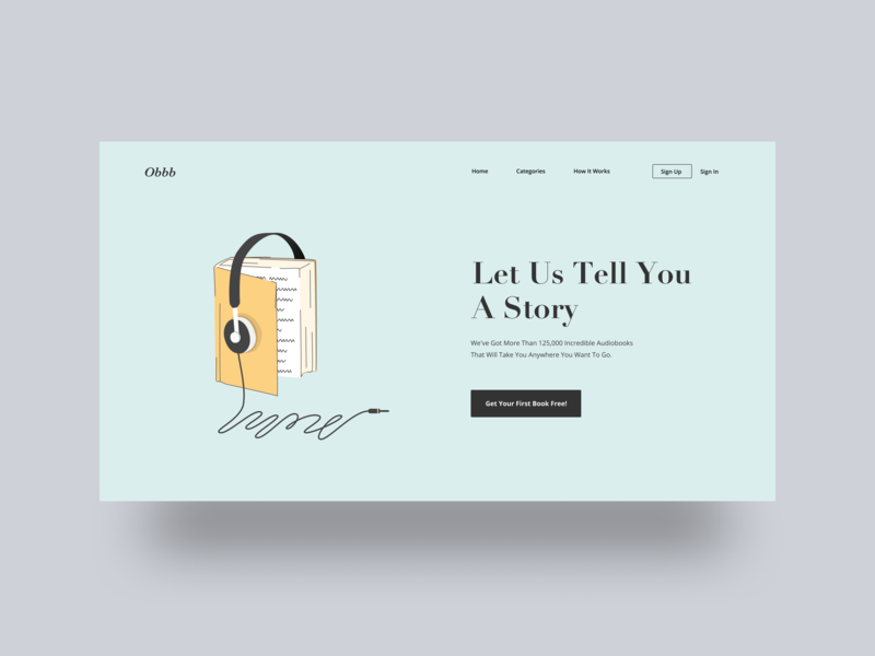 Obbb Audio Book ui uidesign layout webdesign minimal illustration audiobook book clean simple