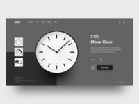 COOP Mono Clock