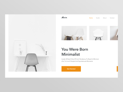 Minim ecommerce chair template website design ui design web design typogaphy whitespace clean minimalism minimal